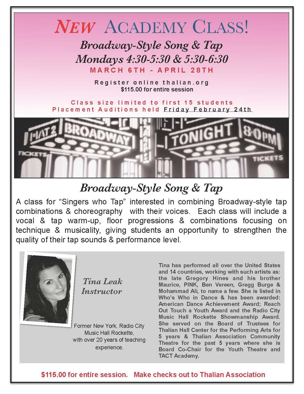 Download/print TACT Academy Dance Class