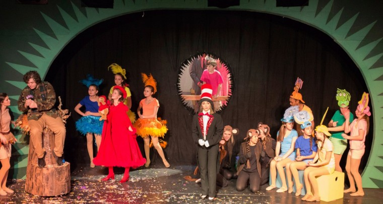 Seussical cast on stage 2014